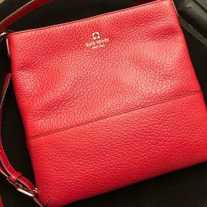 Late Spade Crossbody Bag Red